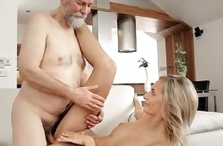 Mature fellow ravages handsome wife in elderly and youthful movie