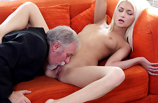 Successful Tanya finds out her old heads young manager also knows how to munch pussy